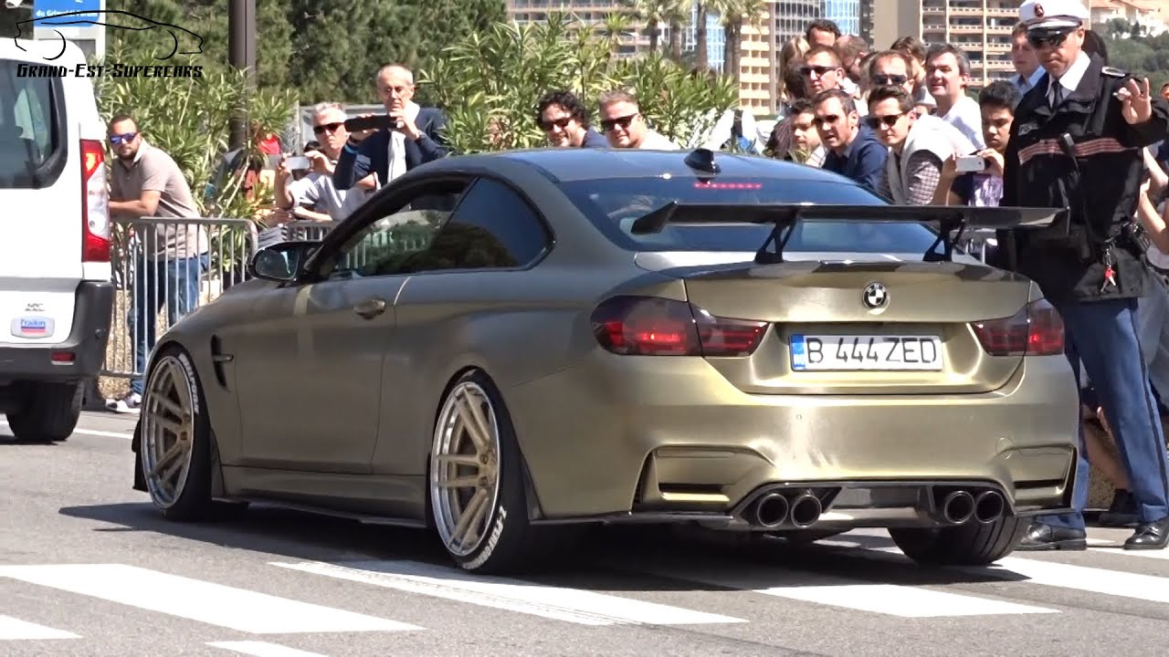 Custom Gold Bmw M4 In Monaco Youtube