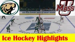 Bemidji State Vs UMass Ice Hockey Game Highlights, 2021 NCAA Bridgeport Regional Final