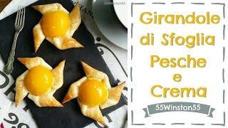 Girandole di Sfoglia con Crema e Pesche | Colazione di Natale | 55Winston55