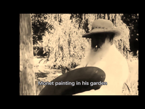 Monet - most famous paintings plus rare footage of the painter