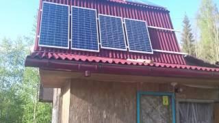 видео солнечные батареи на дачу