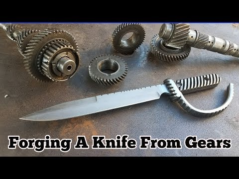 Forging A Knife From Gears - Trench Knife
