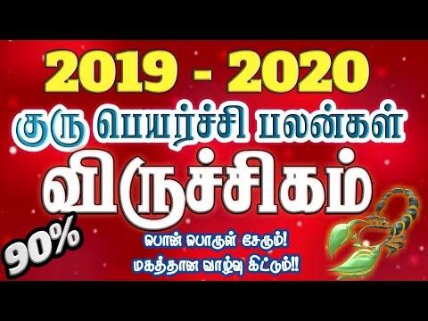 விருச்சிகம் 2019-2020 குரு பெயர்ச்சி பலன்கள்