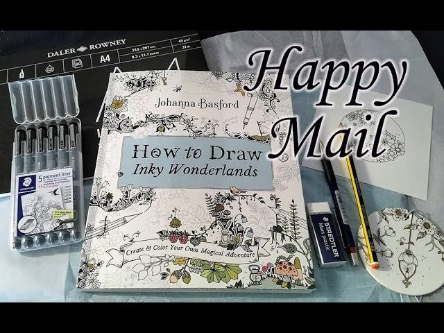 Happy Mail. How to Draw Inky Wonderlands.