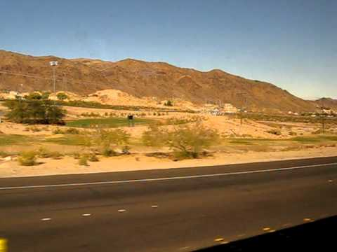 Hoover Dam Tour, passing Lake Mead info from Driver/Tour Guide Tony Part 1