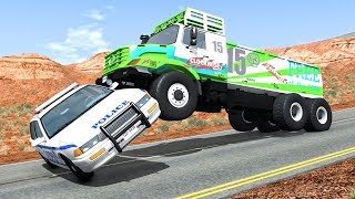 Crazy Police Chases #62 - BeamNG Drive Crashes