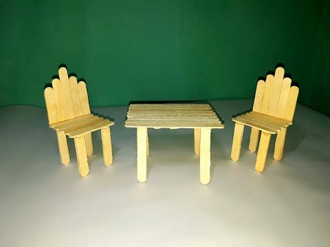 ice cream table and chairs stair chair lift medicare coverage how to make with popsicle stick couple dining making