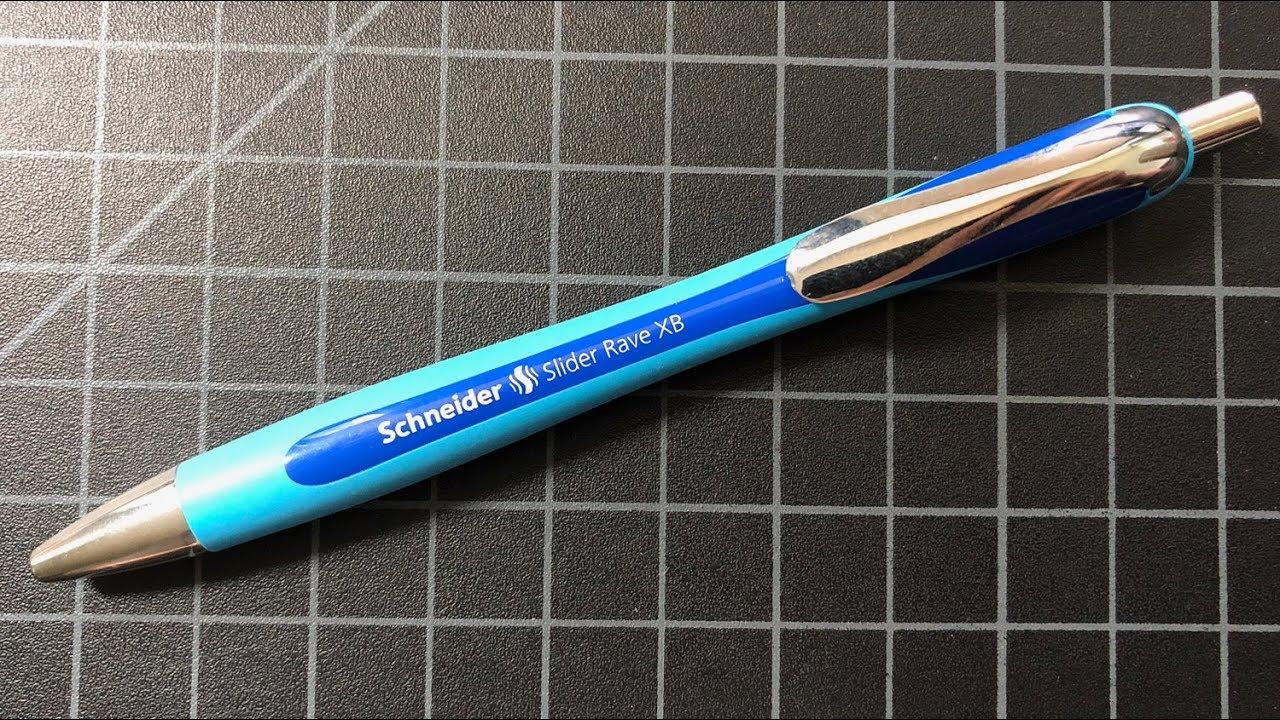 schneider slider rave xb  Schneider Slider Rave XB Ballpoint Pen Review - YouTube