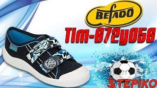 Детские текстильные кеды Befado TIM 672y056. Видео обзор от STEPIKO.COM