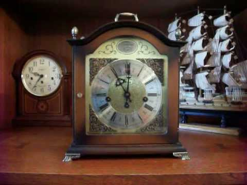 Bulova Tempus Fugit Bracket Westminster Chime Mantel Clock YouTube