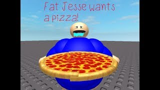 FAT JESSE WANTS A PIZZA! (ROBLOX SKIT)