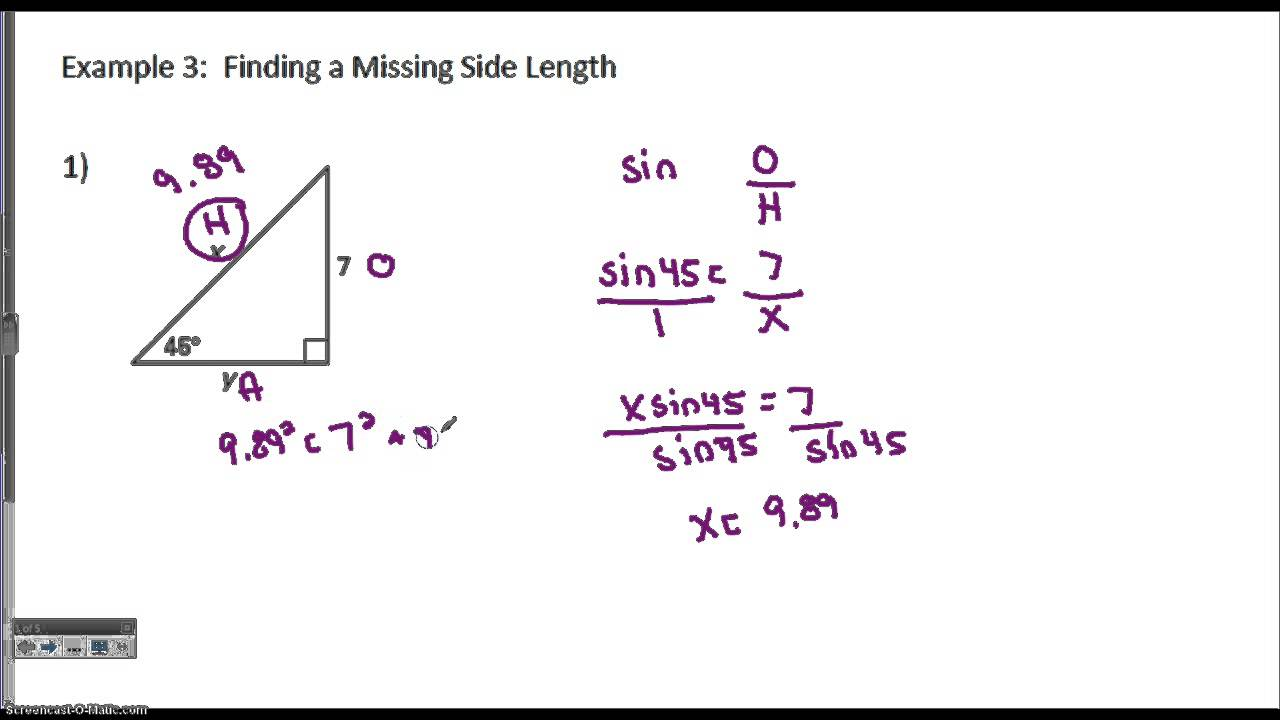 Finding missing side measures of a right triangle youtube finding missing side measures of a right triangle ccuart Gallery