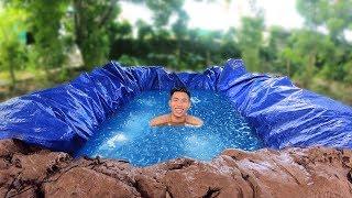 NTN - Thử Tắm Bể Bơi 100KG Đá Lạnh Dưới Lòng Đất (100kg Icy Underground Pool)