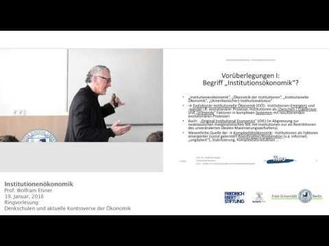 Institutionenökonomie - Prof. Wolfram Elsner @FU-Berlin