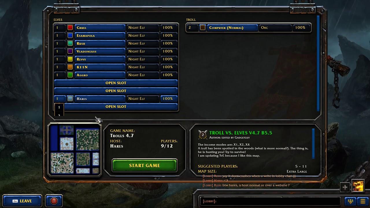 Warcraft 3 Reforged: Custom Lobby UI Issues