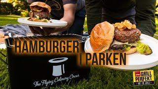 Grill Hamburger i parken!