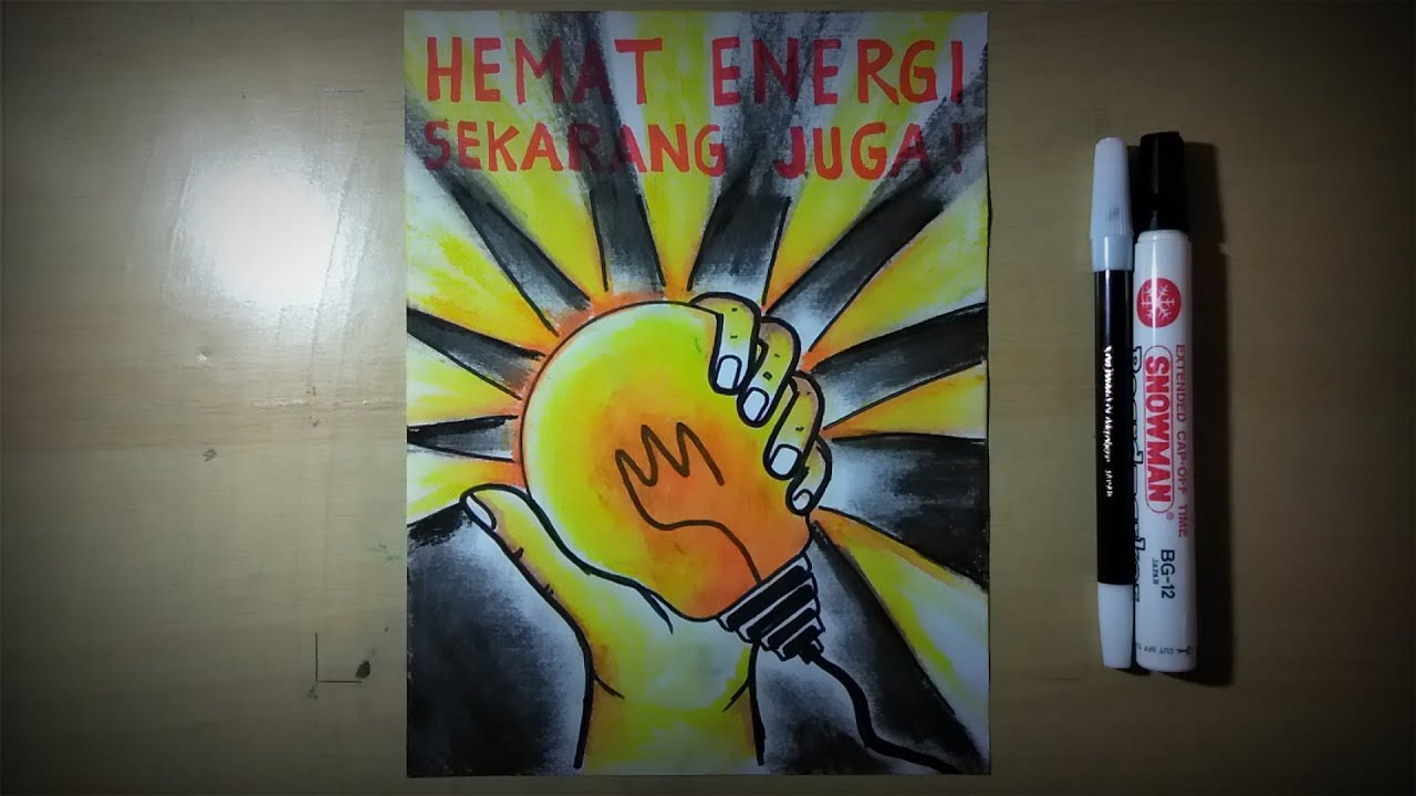 Buat Poster Tentang Hemat Energi Youtube