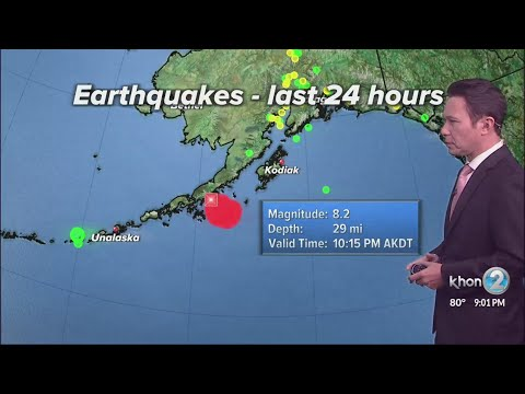 Hawaii under Tsunami Watch after 8.1 earthquake off Alaska