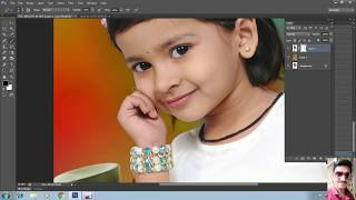 Adobe Photoshop Change background  ||  hair cutting tutorial in Hindi gujarati