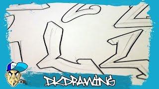 Graffiti Alphabets Letter L - Buchstabe L - Letra L