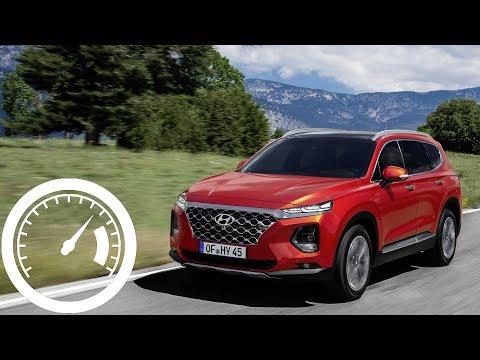 Hyundai Santa Fe 2.0 CRDi (2019) Acceleration: 0-60 Mph, 0-100 Km/h, 0-200 Km/h :: [1001cars]
