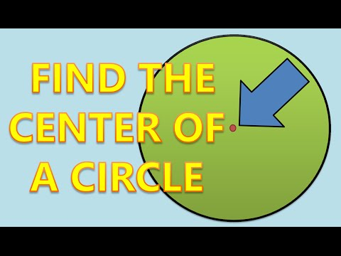 how to find the center of a small circle