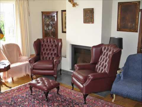 Typical English Chesterfield furniture