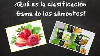 ¿Qué es la clasificacion Gama de los Alimentos?