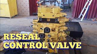 Reseal control valve. excavator pc 200-8