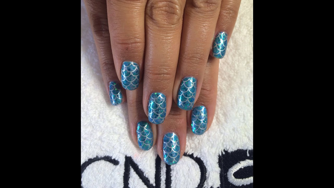 Mermaid Tail Nails Cnd Shellac Youtube