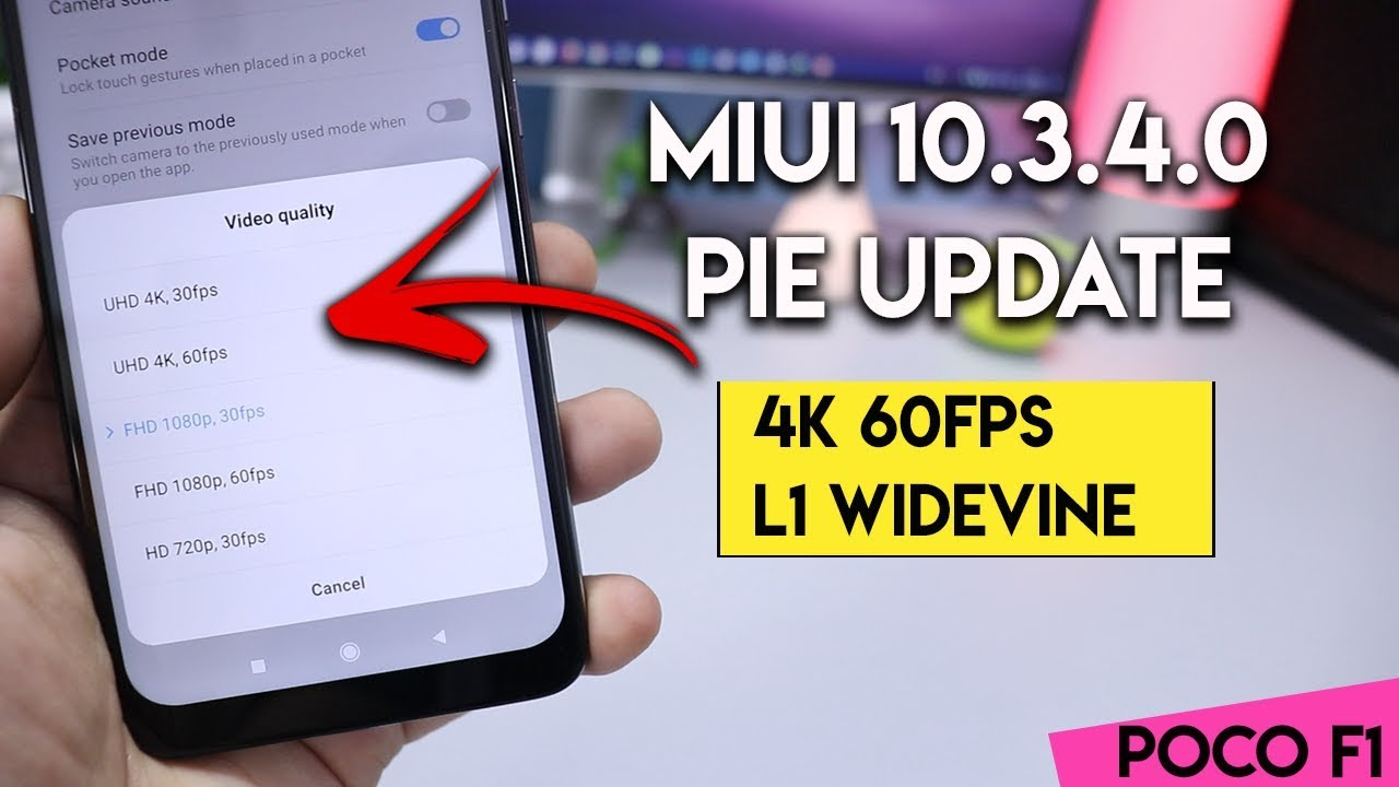 Download MIUI 10 3 4 0 update for POCO F1 With 4K 60FPS
