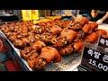 양많고 저렴한 시장 족발, 수제편육, 미니족, 돼지꼬리 / Korean Braised Pig's Trotters (Jokbal) - Korean Street Food