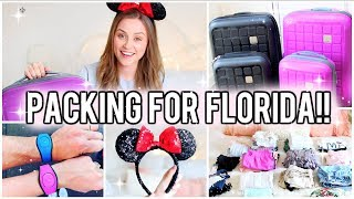 PACKING FOR FLORIDA - DISNEY WORLD & UNIVERSAL STUDIOS!!