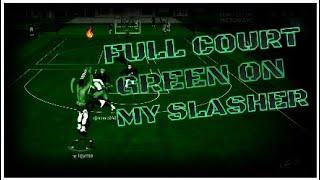 FULL COURT GREEN ON MY SLASHER!! INSANE CONTACT DUNKS!! BEST SLASHER BUILD NBA 2K19