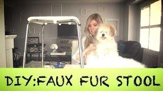 Diy: Faux Fur Stool   Home Decor