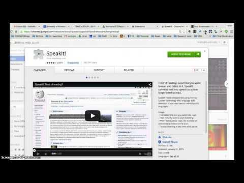 Demonstration SpeakIt Chrome Extension
