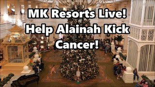 Magic Kingdom Resorts Live Stream - Help Alainah Kick Cancer - 12-22-17 - Walt Disney World thumbnail
