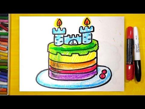 как нарисовать торт для мальчика урок рисования для детей