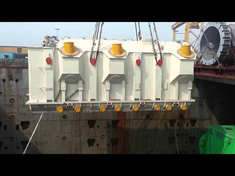 AMMS Logistics : 108 Ton Unloading from Mother Vessel to Barge