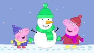 Peppa Pig Christmas Episode -  Snowman & Snowball