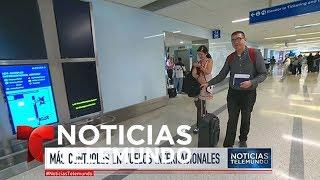 Habrá nuevos controles en los aeropuertos de Estados Unidos   Noticiero   Noticias Telemundo