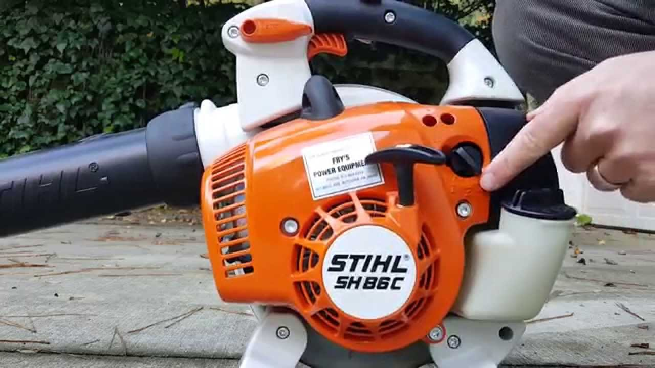 On Off Switch Stihl Blower : How to start your stihl leaf blower youtube