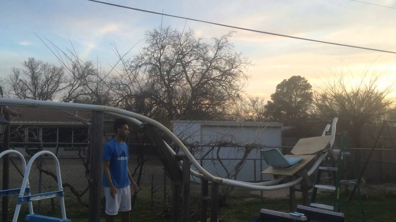 Backyard PVC pip roller coaster: update 2! - YouTube