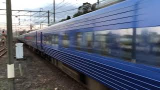 日豊本線883系特急青いソニック鬼滅の刃ラッピングトレイン