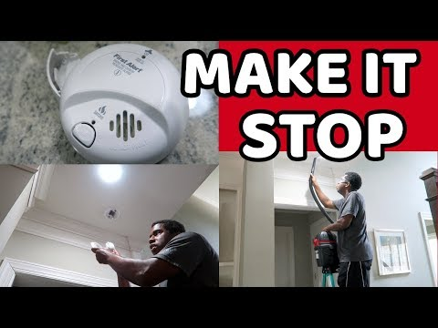 How to get your smoke alarm to stop chirping
