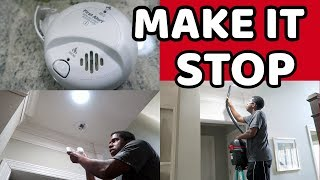 MAKE IT STOP‼️HOW TO STOP BEEPING SMOKE ALARM