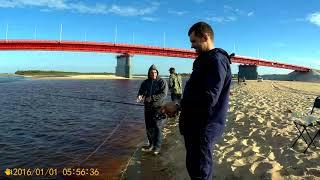 Літня риболовля на річці Надим, Я, Женька, Олена