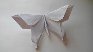 Бабочки из бумаги(Бумага: офисная А4, 80г/м²; Пропорции: делаем квадрат из листа А4; Автор: Michael Lafosse; Схема: Butterfly. Оригами бабочка..., 2014-03-22T09:48:07.000Z)