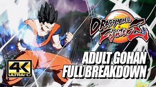 ADULT GOHAN - Potential Unleashed, Combos & Breakdown: DragonBall FighterZ