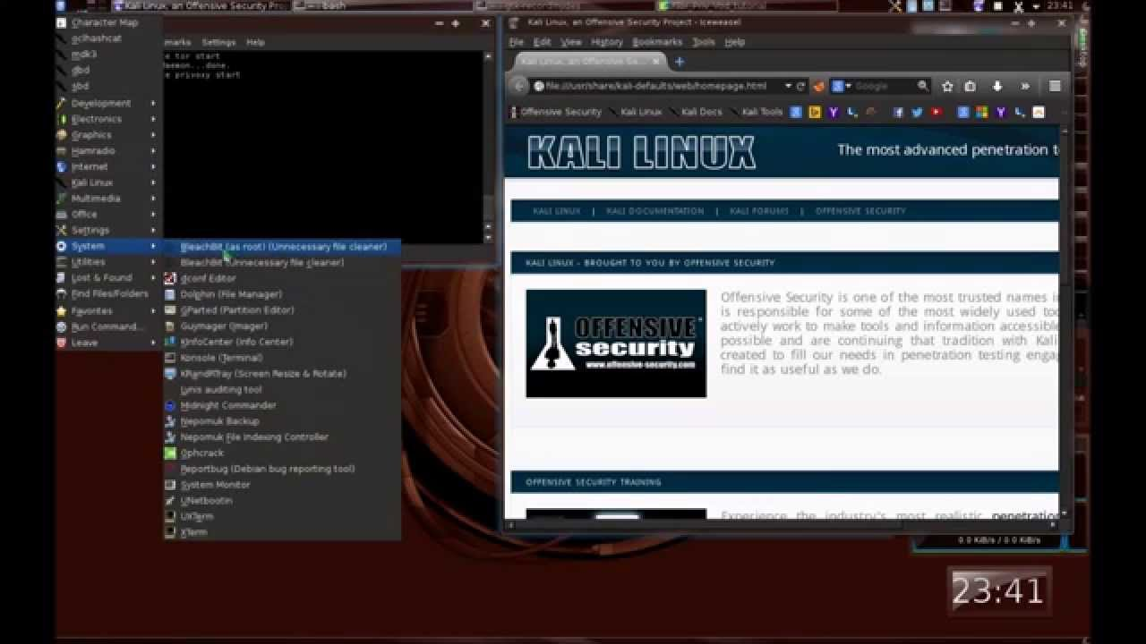 How to install tor, Vidalia and Privoxy on Kali Linux and use them with  Iceweals (FoxyProxy)